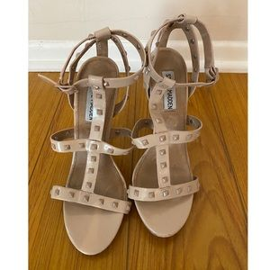 Steve Madden | Nude Strappy Stude Heels | 8